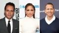 Three-Way Split Photo of Marc Anthony, Jennifer Lopez and Alex Rodriguez