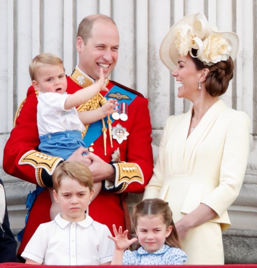 prince william kate middleton kids trooping the colour