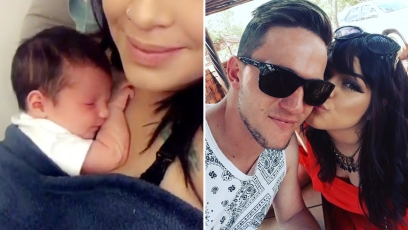 Tiffany & Ronald Smith Smiling Selfie Inset Of New Baby