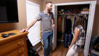 Amber and Matt Standing in Front of Closet on 'Married at First Sight'