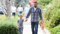 Ben Affleck Holding Hands With His Son