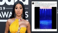 Cardi B Apologizes to Fans After 'Security Threat' at Concert: 'My Safety and Your Safety First'