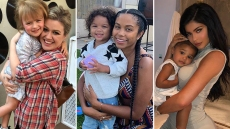Celebrities Hugging Sons Daughters