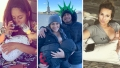 Three Picttures of Snooki, Kalani Faagata and Jessie James Decker Feeding Their Babies