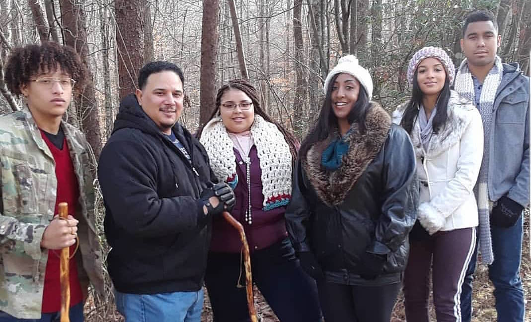 Chantel Everett's Family Goes Hiking