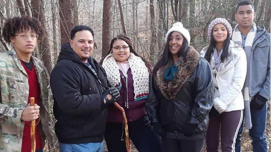 Chantel Everett's Family Goes Hiking