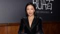 Constance Wu Wearing a Black Dress