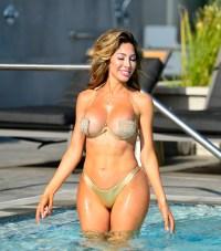 Farrah Abraham gold bikini