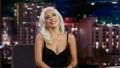 Lady Gaga wearing a Black Dress on Jimmy Kimmel Live!