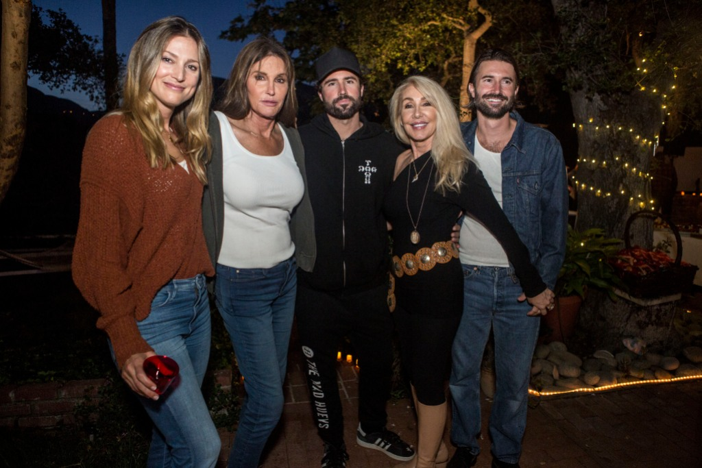 Caitlyn Jenner With Brody Jenner and His Other Sons And Ex-Wife Linda Thompson