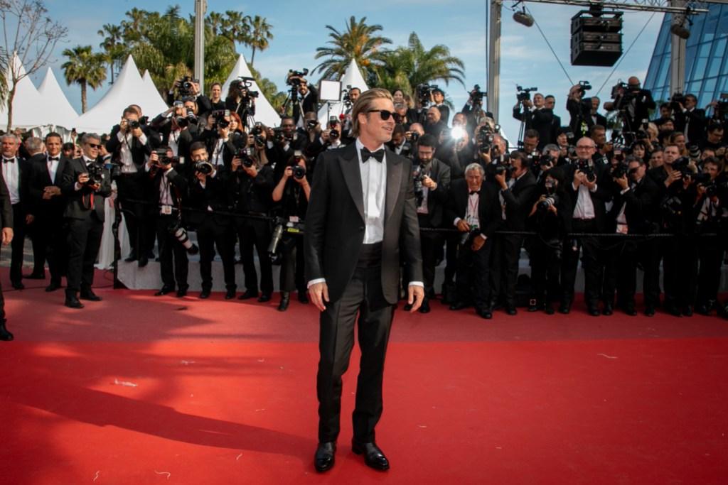 Brad Pitt Wearing a Tuxedo in Cannes