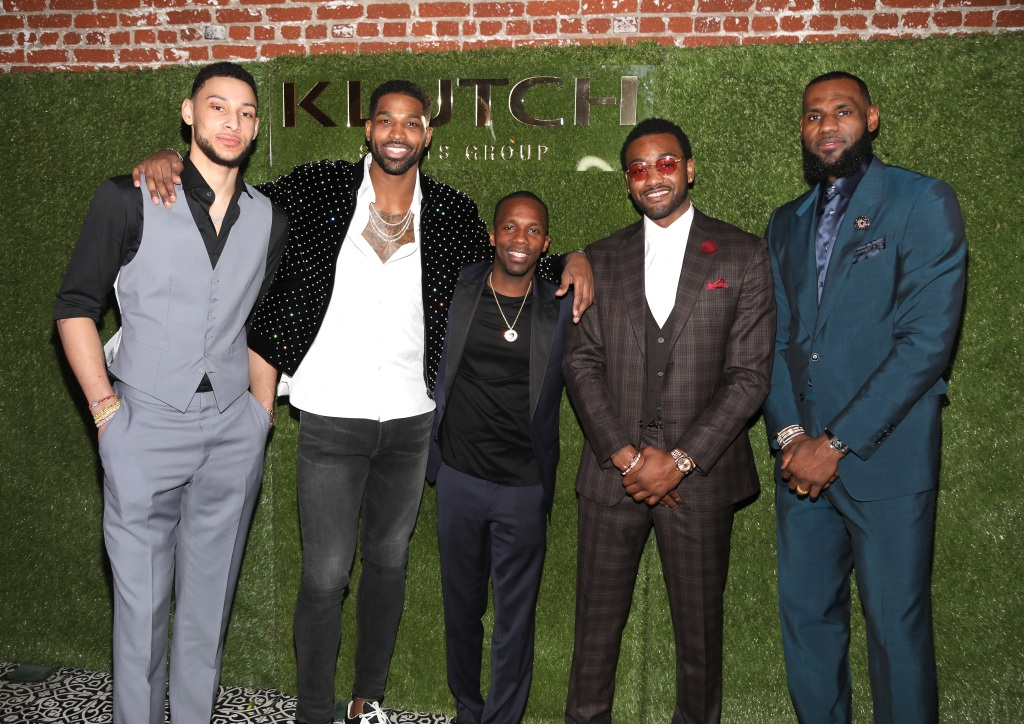 Tristan Thompson With Ben Simmons and Other Basketball Ball Players