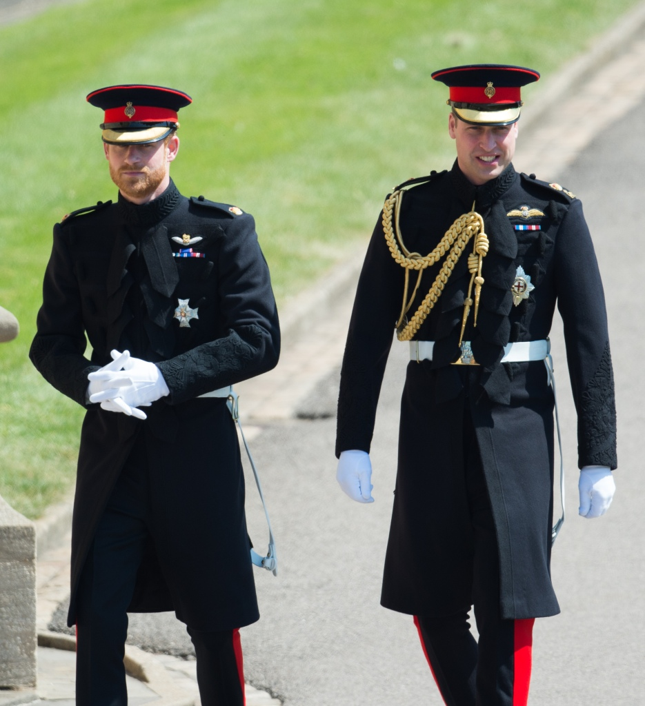 Prince William With Prince Harry Wearing Matching Suits