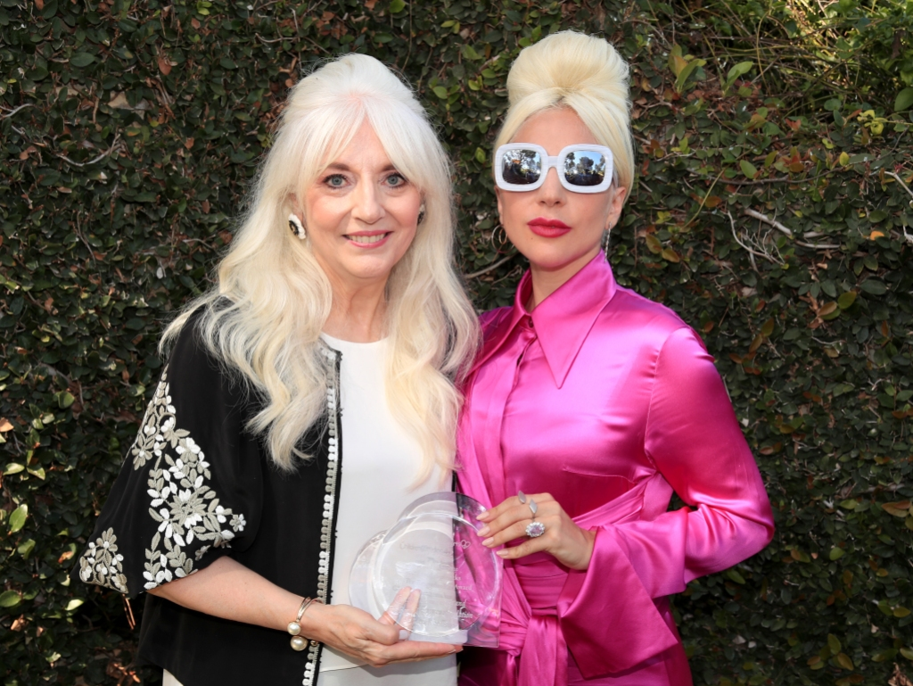 Lady Gaga Wearing Pink With Her Mom