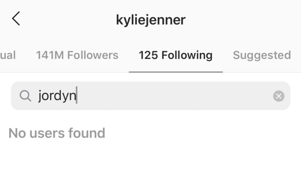 Kylie-unfollows-Jordyn