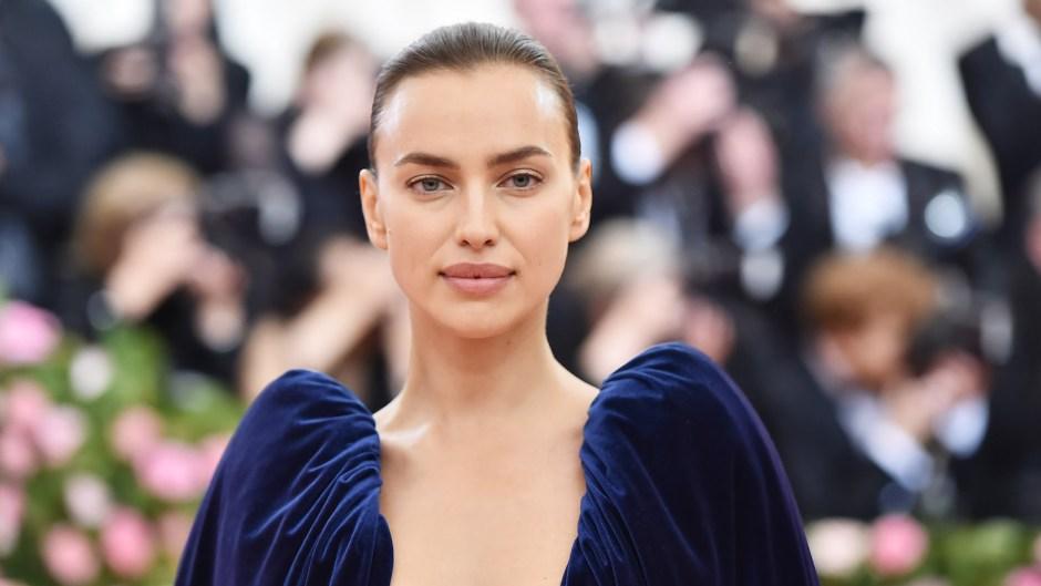 Irina Shayk Wearing a Blue Dress on the Met Gala Red Carpet