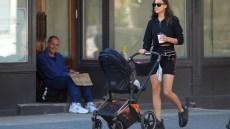 Irina Shayk strolling in NYC with daughter Lea