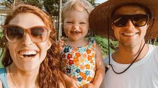 Audrey Roloff Takes Selfie with Daughter Ember in Bathing Suit and Husband Jeremy in Straw Hat and Sunglasses