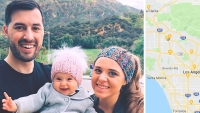 Jinger Duggar and Jeremy Vuolo Hold Felicity in Front of Mountains; Map of Los Angeles