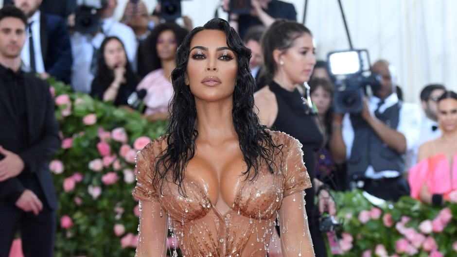 Kim Kardashian Wearing a Nude Tight Dress at the Met Gala
