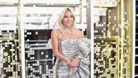Lady Gaga Wearing a Silver Dress