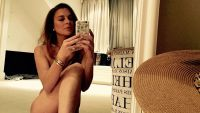 Lindsay Lohan Wearing Nothing Taking a Selfie