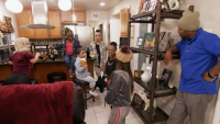 Little Women LA Cast Arguing in Tonya's Kitchen