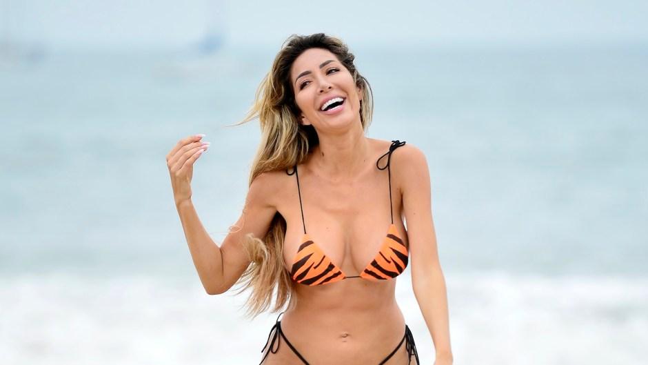 Farrah Abraham Tiger Striped Bikini at Malibu Beach