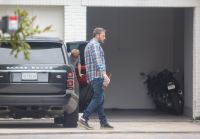 Ben Affleck With His Son Getting Out of the Car