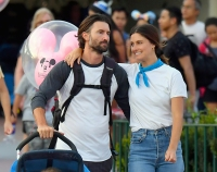 Brandon Jenner Wearing a Long Sleeve Shirth With His New Girlfriend at Disneyland