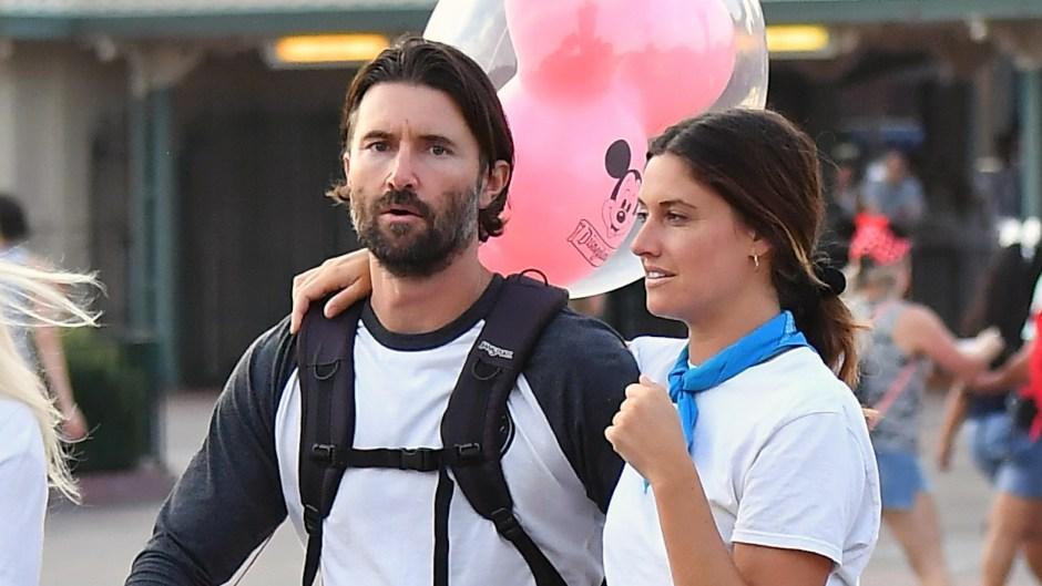 Brandon Jenner Wearing a Long Sleeve Shirth With His New Girlfriend at Disneyland