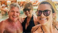 Brittany Chandler Takes Selfie with Matt Roloff and Caryn Chandler in the Pool