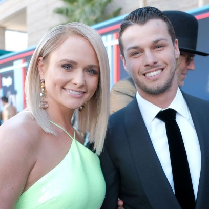 Miranda Lambert Wearing a Green Dress With Brendan McLoughlin
