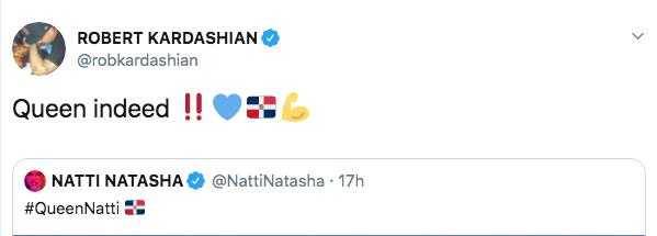 Rob Kardashian Flirting With Natti Natasha