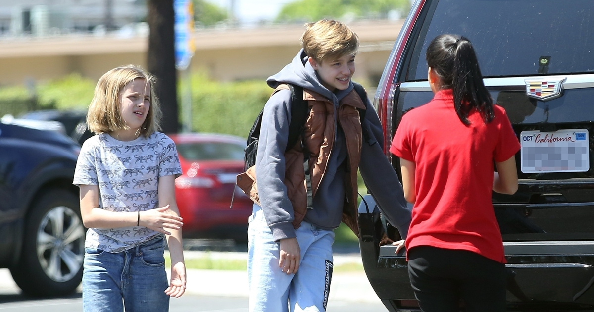 Shiloh and Vivienne Jolie-Pitt Spotted With Friends: Photos