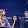 Taylor Swift in Plaid Performing with Ed Sheeran on Stage