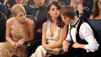 Taylor Swift, Selena Gomez and Justin Bieber