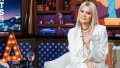 Khloe Kardashian, white outfit, on watch what happens live