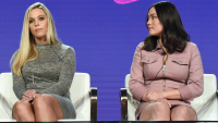 mady and kate gosselin seated