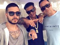 Vinny, Pauly and Mike The Situation Wearing Sunglasses