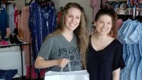 Jill Duggar Smiles With Amy at Her Store