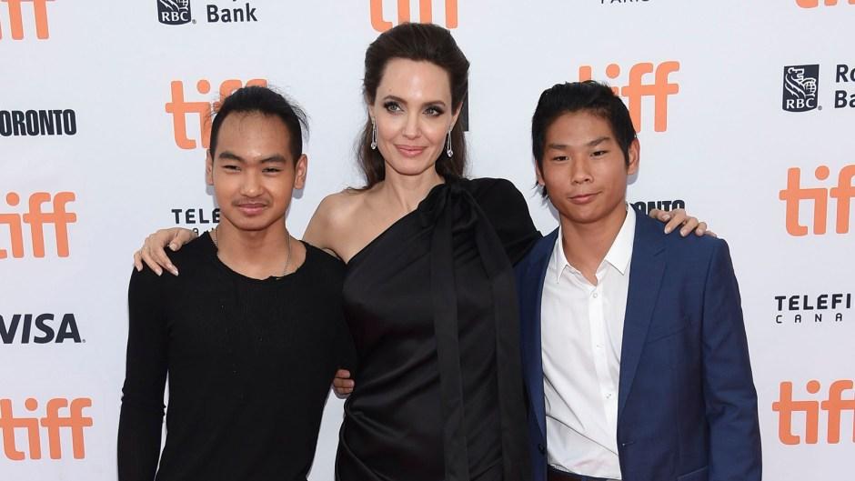 Angelina Jolie Proud Sons