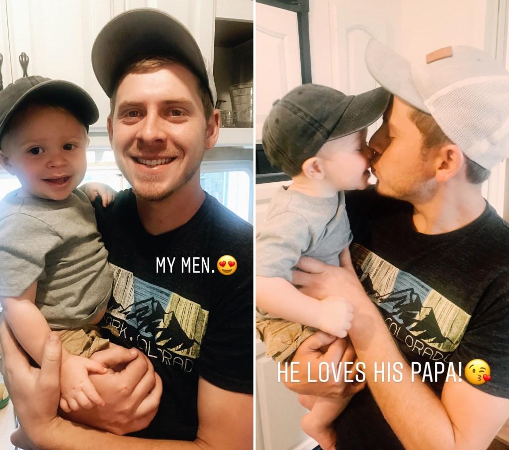 Austin Forsyth Kisses Mini-Me Son Gideon