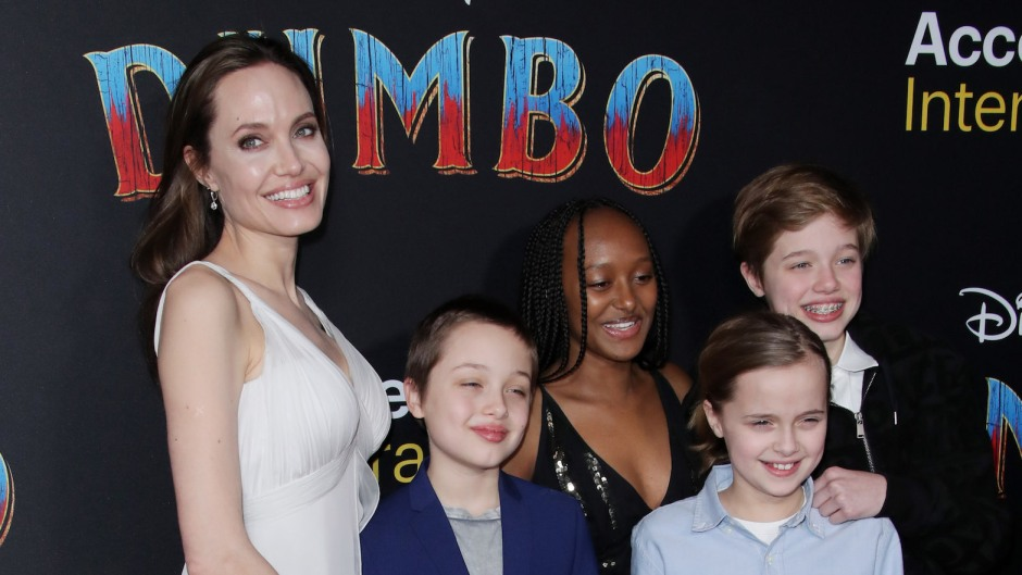 Angelina Jolie and Her Kids at An Event