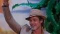 Brad Pitt Wearing a Hat and Beige Outfit at the Premiere of Once Upon a time in Hollywood in Mexico