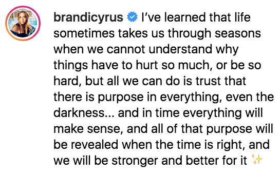 Brandi Cyrus Miley Liam Split