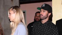 Brody Jenner Wearing a Black Outfit Walking Behind Josie Canseco