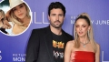 In-Set Photo of Miley Cyrus and Kaitlynn Carter Over Photo of Kaitlynn Carter and Brody Jenner