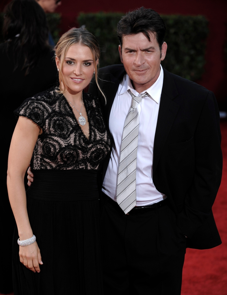 Charlie Sheen Wearing a Tux With Brooke Mueller