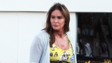 Caitlyn Jenner Yellow Maxi Dress Heels Dinner Malibu